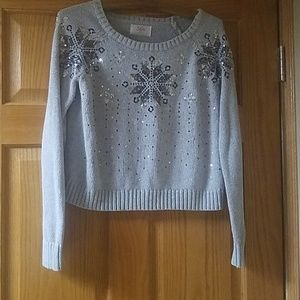 Justice Girls Size 18 Sweater Gray